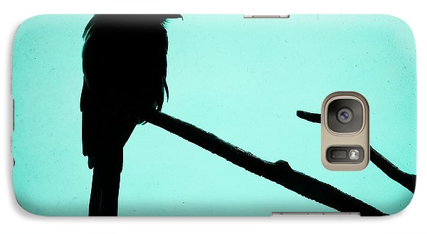 Magpie Shrike Silhouette Galaxy Case by Gary Heller