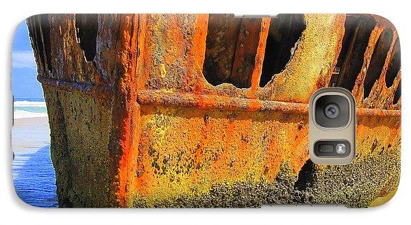 Galaxy Case featuring the photograph Maheno Shipwreck by Ramona Johnston