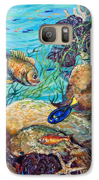 Galaxy Case featuring the painting Maho Bay Left by Linda Olsen