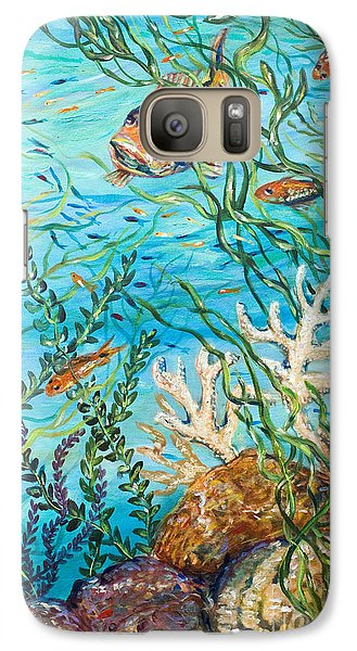 Galaxy Case featuring the painting Maho Bay Right by Linda Olsen