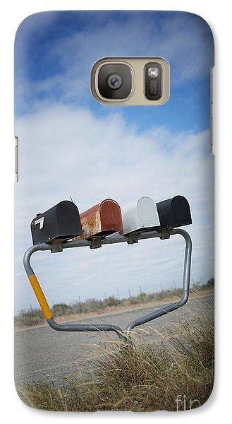 Galaxy Case featuring the photograph Mailboxes by Erika Weber