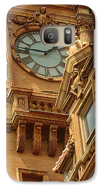 Galaxy Case featuring the photograph Main St Station Clock Tower Richmond Va by Suzanne Powers
