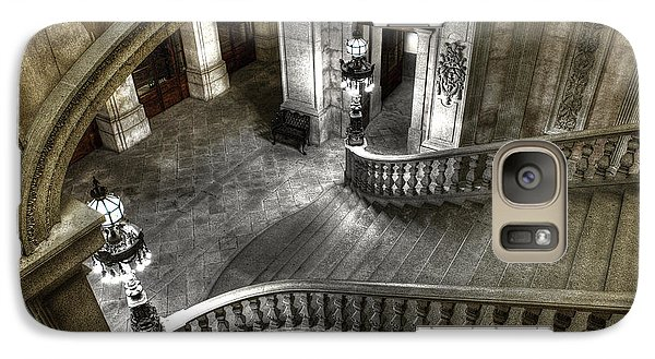Galaxy Case featuring the photograph Main Staircase From Above by Ed Cilley
