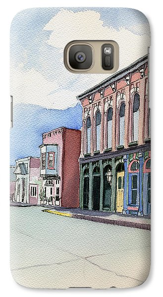 Galaxy Case featuring the painting Main Street In Gosport by Katherine Miller