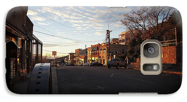 Galaxy Case featuring the photograph Main Street Jerome Arizona by Ron Chilston