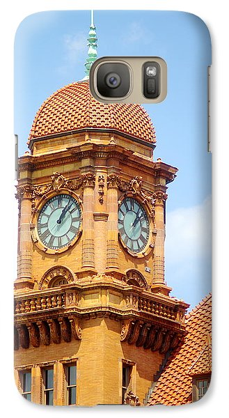 Galaxy Case featuring the photograph Main Street Station Clock Tower Richmond Va by Suzanne Powers