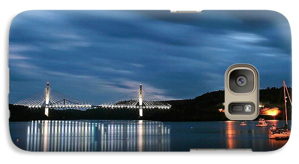 Galaxy Case featuring the photograph Maine Bridge And Fort Knox  by Barbara West