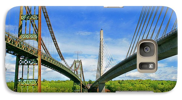 Galaxy Case featuring the photograph Maine Bridges by Barbara West