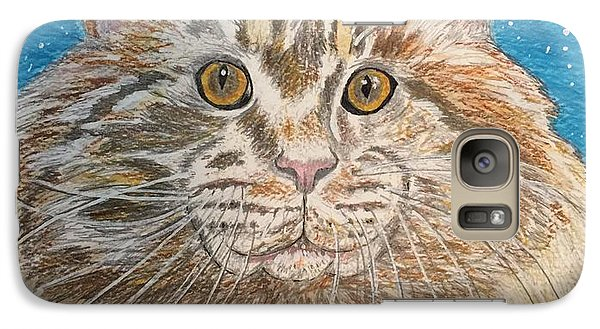 Galaxy Case featuring the painting Maine Coon Cat by Kathy Marrs Chandler