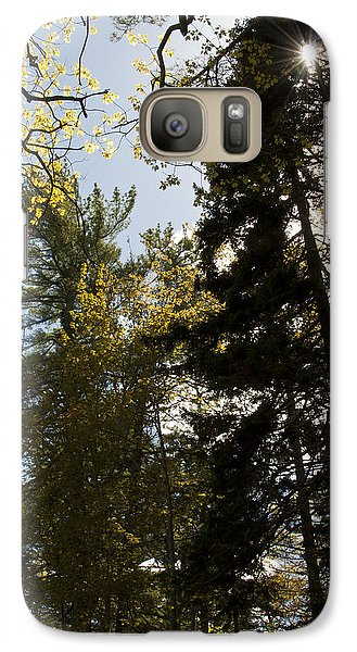 Galaxy Case featuring the photograph Maine Spring Wood by Daniel Hebard