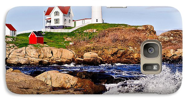 Galaxy Case featuring the photograph Maine's Nubble Light by Mitchell R Grosky
