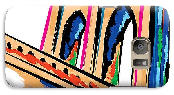 Galaxy Case featuring the digital art Majestic Brooklyn Bridge by Sam Shacked
