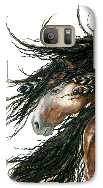 Horse Galaxy S7 Case - Majestic Pinto Horse 80 by AmyLyn Bihrle