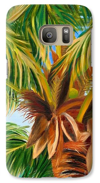 Galaxy Case featuring the painting Majestic Palm by Shelia Kempf