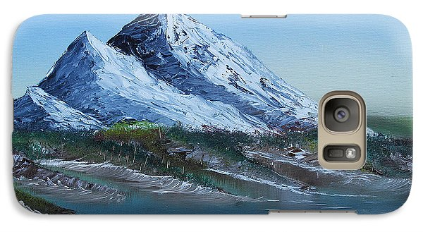 Galaxy Case featuring the painting Majestic Peaks by Jennifer Muller