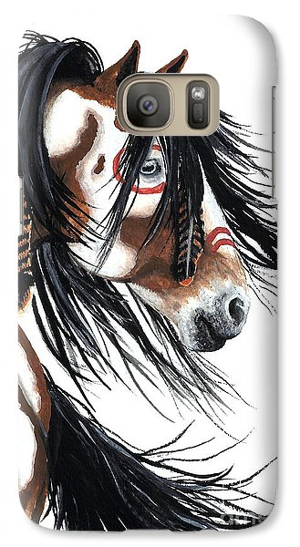 Majestic Pinto Horse Galaxy S7 Case by AmyLyn Bihrle