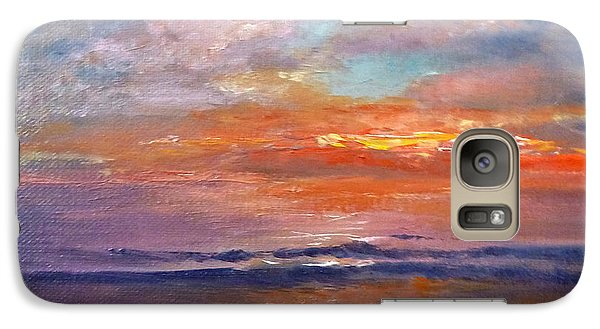 Galaxy Case featuring the painting Majestic Sunrise by Lori Ippolito