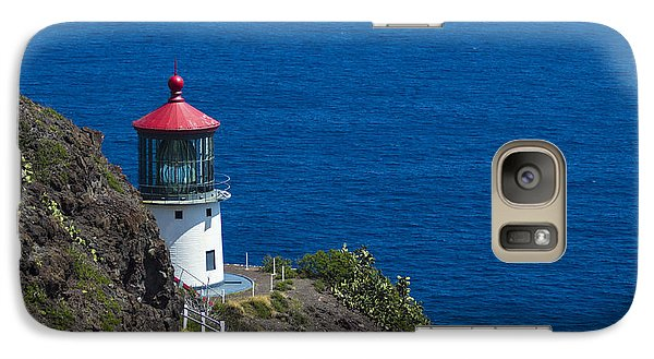 Galaxy Case featuring the photograph Makapuu Lighthouse 1 by Leigh Anne Meeks