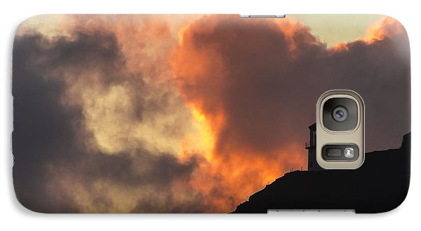 Galaxy Case featuring the photograph Makapuu Lighthouse Sunrise 1 by Leigh Anne Meeks