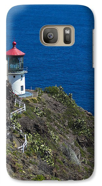 Galaxy Case featuring the photograph Makapuu Lighthouse2 by Leigh Anne Meeks