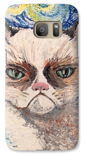Galaxy Case featuring the painting Make Me Happy by Iya Carson