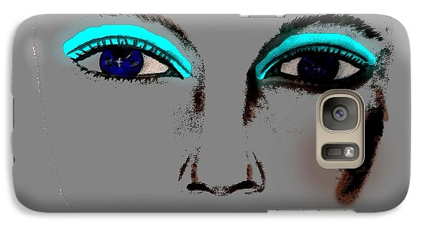 Galaxy Case featuring the drawing Make Up Digital Painting By Saribelle Rodriguez by Saribelle Rodriguez