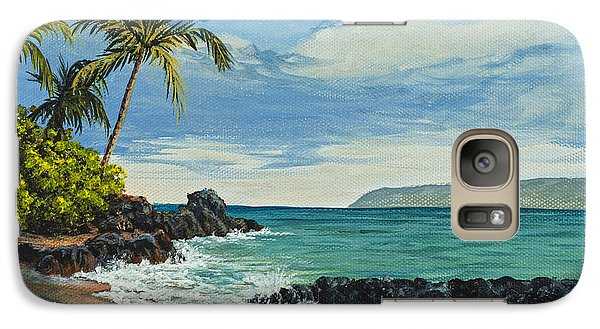 Galaxy Case featuring the painting Makena Beach by Darice Machel McGuire
