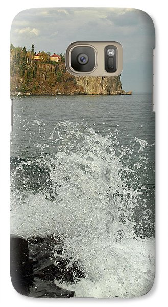 Galaxy Case featuring the photograph Making A Splash At Split Rock Lighthouse  by James Peterson