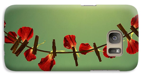 Rose Galaxy S7 Case - Making Potpourri by Beata  Czyzowska Young