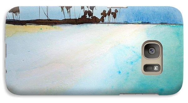 Galaxy Case featuring the painting Maldives  by Ed  Heaton