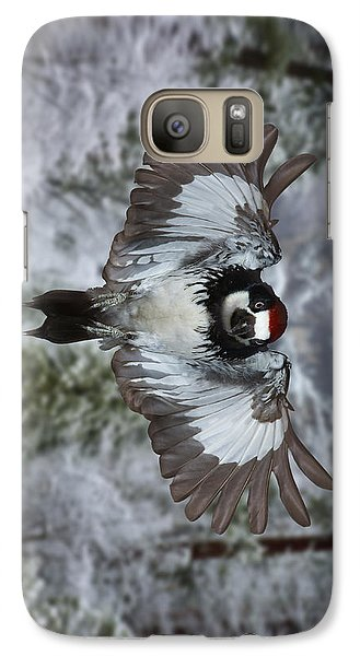 Galaxy Case featuring the photograph Male Acorn Woodpecker - Phone Case Design by Gregory Scott