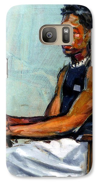 Galaxy Case featuring the painting Male Figure Sitting by Stan Esson
