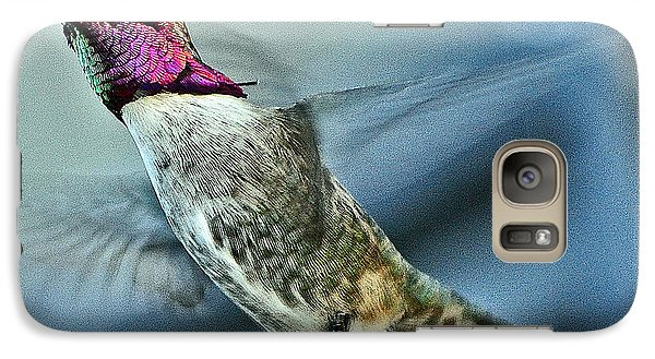 Galaxy Case featuring the photograph Male Hummingbird Free As A Bird by Jay Milo