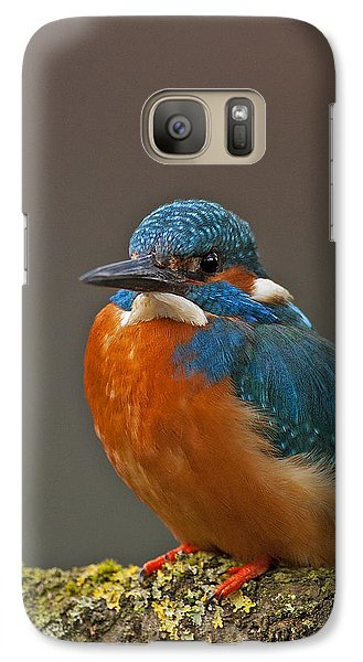 Galaxy Case featuring the photograph Male Kingfisher by Paul Scoullar
