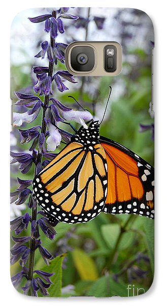 Galaxy Case featuring the photograph Male Monarch Butterfly  by Eva Kaufman