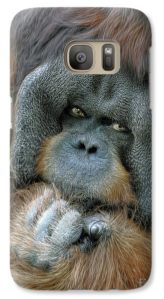 Galaxy Case featuring the photograph Male Orangutan  by Savannah Gibbs