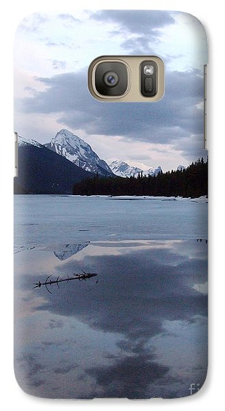 Galaxy Case featuring the photograph Maligne Lake - Reflections by Phil Banks