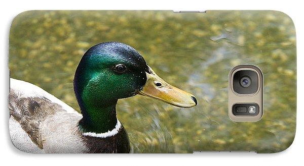 Galaxy Case featuring the photograph Mallard Duck Closeup by David Millenheft