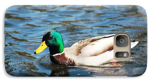 Galaxy Case featuring the photograph Mallard Duck by Judy Palkimas