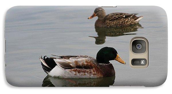 Galaxy Case featuring the photograph Mallard Ducks Reflecting by Robert Banach