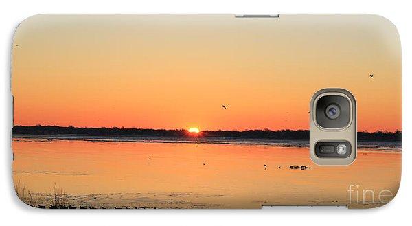 Galaxy Case featuring the photograph Mallards At Sunrise by David Jackson