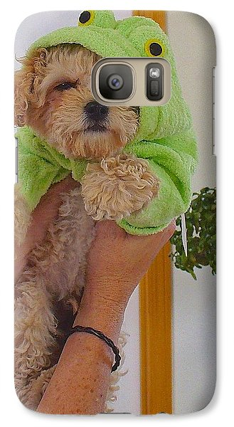 Galaxy Case featuring the photograph Malti-poo Frog A True Mongrel by Brenda Pressnall