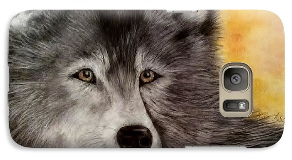 Galaxy Case featuring the painting Mama Wolf by Annamarie Sidella-Felts