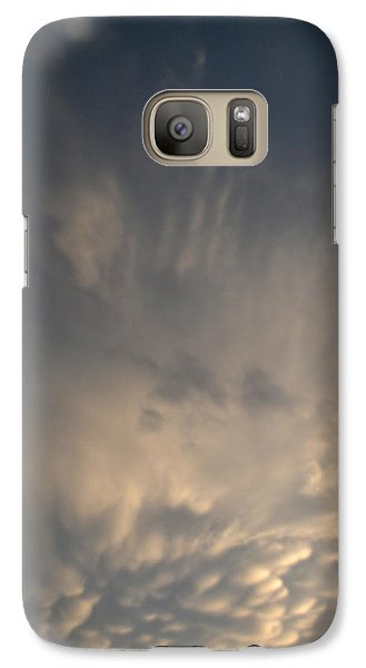 Galaxy Case featuring the photograph Mammatus And Other Clouds 2  by Lyle Crump