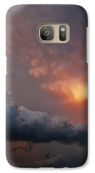 Galaxy Case featuring the photograph Mammatus At Sunset by Ed Sweeney