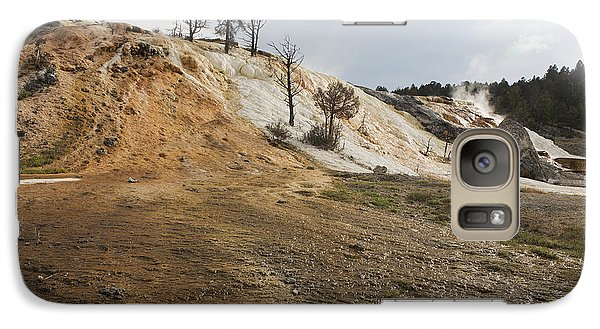 Galaxy Case featuring the photograph Mammoth Hot Springs by Belinda Greb