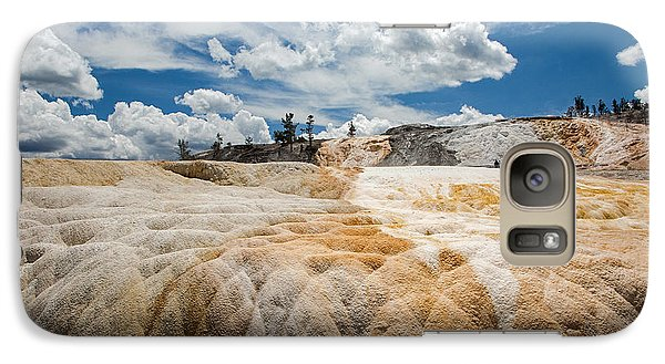 Galaxy Case featuring the photograph Mammouth Terraces by Jack Bell