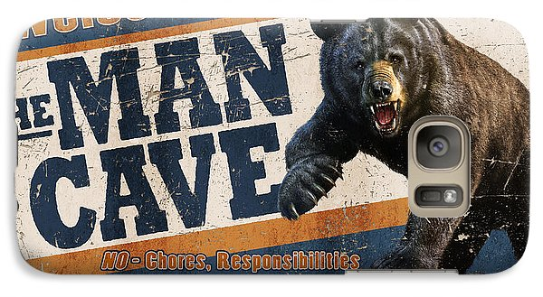Niagra Falls Galaxy S7 Case - Man Cave Balck Bear by JQ Licensing