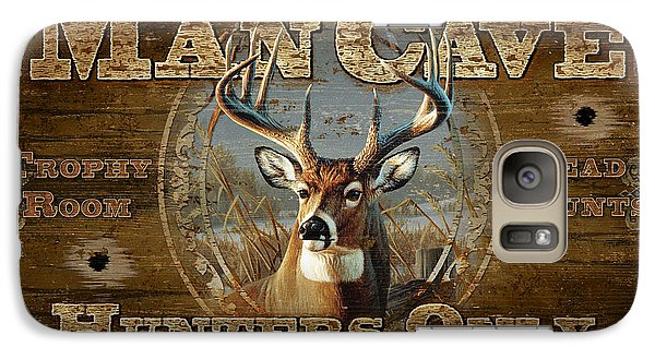 Galaxy Case featuring the painting Man Cave Deer by JQ Licensing