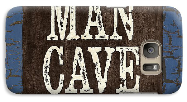 Man Cave Enter At Your Own Risk Galaxy S7 Case by Debbie DeWitt